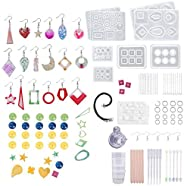 JaneDream 289PCS DIY Resin Silicone Molds Earring Bracelet Necklace Pendant Beads Molds Kits Epoxy Casting Mol