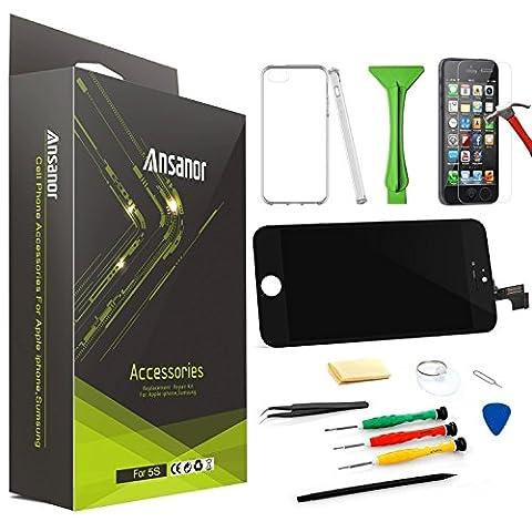Ansanor® Noir Ecran LCD pour iPhone 6 PLUS Digitizer-Professionnel Kit de Remplacement Réparation - Film Protection en Verre trempé écran Protecteur pour iPhone 6