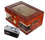 Lifestyle-Ambiente Cigar Oasis EXCEL LA Wonderful Kristallglas Humidor inkl Tastingbogen