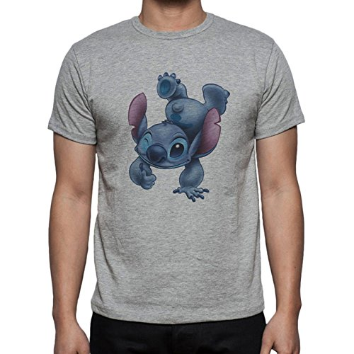 Stich One Game Film Herren T-Shirt Grau