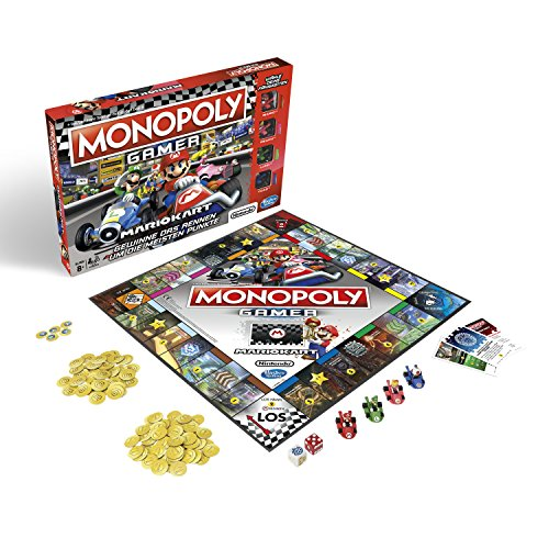 Monopoly Gamer Mario Kart, Gesellschaftsspiel für Erwachsene & Kinder, Familienspiel, der Klassiker der Brettspiele, Gemeinschaftsspiel für 2 - 4 Personen, ab 8 Jahren -