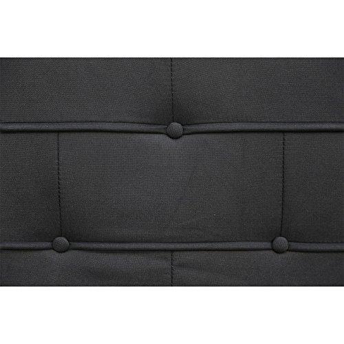 CARO-Möbel Polsterbett Einzelbett Laredo 120 x 200 cm inklusive Rollrost Stoffbezug in schwarz