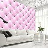 murando - Fototapete 300x210 cm - Vlies Tapete - Moderne Wanddeko - Design Tapete - Wandtapete - Wand Dekoration - Leder Diamant Rosa f-C-0097-a-a