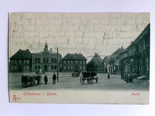 Postkarte: Oldenburg i. Holst. - Markt
