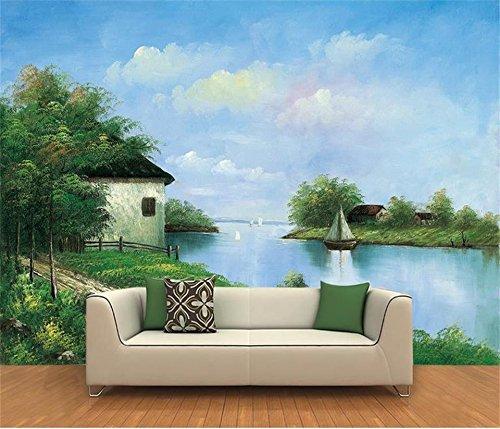 Yosot 3D Tapeten Individuelle Fototapete Wohnzimmer Wandbild Thomas Wald Landschaft Öl Malerei Sofa Hintergrundbild Für 3D-Wand-350Cmx245Cm -