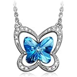 LADY COLOUR - Farfalla - Collana donna con cristalli da Swarovski - la collezione Natura