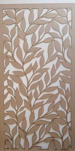 LaserKris Heizkörper Schrank Wall Dekorative Screening-Grille- Perforiert MDF-Platte (4x 2) -