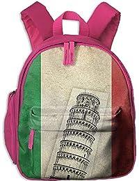 Preisvergleich für Lovely Schoolbag Leaning Tower Pisa Italian Pride Double Zipper Closure Waterproof Children Schoolbag Backpacks...
