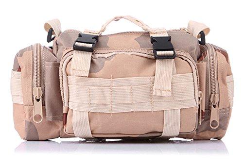 5 All Sling-Rucksack Sling Bag Taschen Taktische Rucksack Wanderrucksack Kleine Rucksäcke Kletterrucksack Outdoor Sports Camouflage Trekkingrucksack als Radfahr Jogging-Rucksack Camou A3