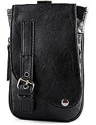 Bolsa de cintura teléfono bolso de doble uso de piel sintética bureze Business bandolera Crossbody Bolsa Para Hombres