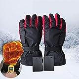 Wiederaufladbare beheizte Handschuhe für Männer und Frauen Outdoor Indoor Batterie beheizte Handschuhe Wasserdicht isolierte elektrische thermische Handschuhe für Klettern Wandern Skifahren Radfahren