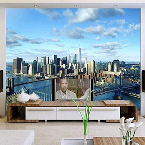Fototapeten 3D Wohnzimmer TV Hintergrund Wanddekor Malerei New York-400Cmx280Cm