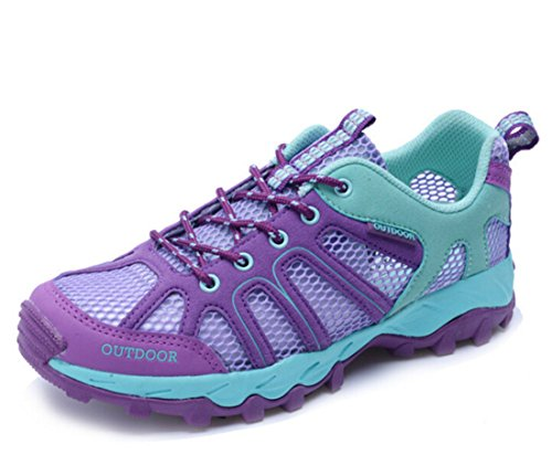Men's Mesh Outdoor Breathable Climbing Shoes purple
