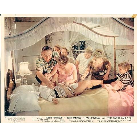 L' attacco gioco Debbie Reynolds Tony Randall Paul Douglas Lobby Card originale # 3 - Reynolds Attacco