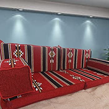 Middle east tribal floor seating furniture arabic majlis for Floor couch amazon
