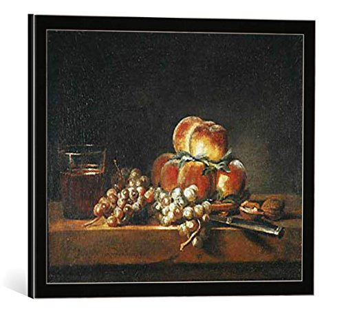 quadro-con-cornice-jean-baptiste-simeon-chardin-still-life-of-peaches-nuts-grapes-and-a-glass-of-win