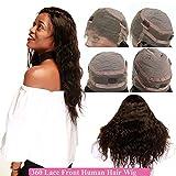 """SEGO® Perruque Lace Wig Perruque Femme Naturelle Brésilien [ 360 Swisse Lace ] - 12""""/30CM (Densité:130%) Noir Naturel Body Wave"""