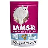 Iams Proactive Health Completa e bilanciata Senior Cibo per Gatti con Oceano Pesce e Pollo, 7x 300g