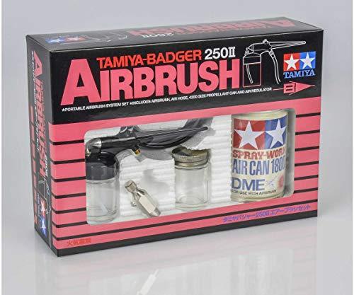 TAMIYA 74404 Badger 250 II Airbrush-Set, Keine Angabe