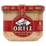 Ortiz Weißer Thunfisch-Filets in Olivenöl (220g) - Packung mit 6