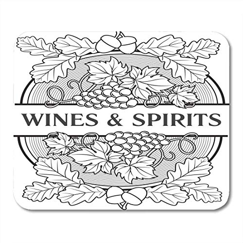 Mouse Pads Leaf Bunches of Grapes and Oak Leaves with Acorns As Elegant Wine List for Alcohol Drinks Design Vintage Mouse Pad for notebooks,Desktop Computers mats Office Supplies -