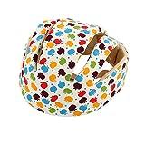 Gugutogo Los cascos de seguridad del bebé infantil del algodón Sombrero de protección para los recién nacidos Protegecabezas Niños Niñas CrashProof antichoque Sombrero flor de manzana