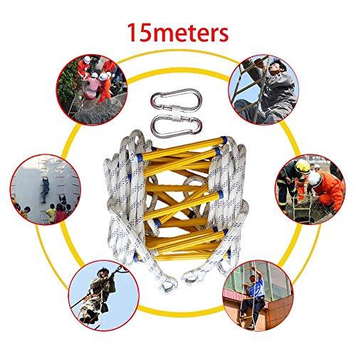 Framy Feuerleiter, Rettungsleiter Notfallarbeit Sicherheitsmaßnahme Feuerrettung Selbstrettung Klettern Weiche Leiter,10m (10 Leiter, Fuß)
