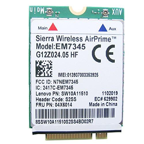 Tarjeta NGFF LTE/HSPA 4G EM7345 Gobi5000 para Lenovo ThinkPad T440, T440s,  T431s, T440p, X1 Carbon, X240, 04X6014, módem celular LTE banda ancha