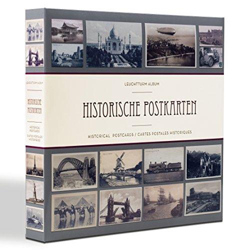Preisvergleich Produktbild LEUCHTTURM Postkartenalbum für 600 historische Postkarten | Einband zeigt verschiedene Ansichtskarten von bedeutsamen Wahrzeichen aus aller Welt