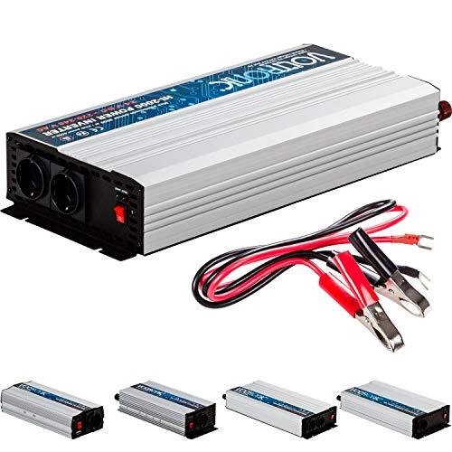 VOLTRONIC® MODIFIZIERTER Sinus Spannungswandler 2000W mit E-Kennzeichen, 24V auf 230V, USB, 3 Jahre Garantie, Stromwandler Inverter Wechselrichter Auto PKW