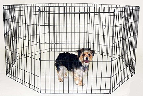 RayGar DOG PET PEN 8 SIDE EXERCISE PEN FENCE PLAY PLAYPEN RUN CAGE PUPPY RABBIT (8pcs) (XXL) 1