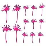 plot4u Pusteblume Schirmchen Wandtattoo in 5 Größen und 19 Farben (4mal11cm+9mal7cm pink)