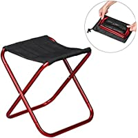 Slacker Chair Folding Foldable Camp Stool Portable Lightweight For Outdoor Fishing Camping Hiking Picnic Gardening Meet Your All Seating Needs Compact Leisure Stools Fold Up Ideal Travel Ultralight Aluminum Alloy Frame Anti Tear Oxford Cloth Seat Quick Rest Outdoors (Hot pink)