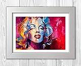 Engravia Digital Marilyn Monroe Abstrakt von VOKA alevik Bemalt Poster Signed Autograph Reproduktion Foto A4Kunstdruck