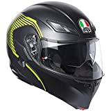 Casco modulare apribile Agv Compact St Vermont Nero opaco Giallo fluo matt black yellow flip up helmet...