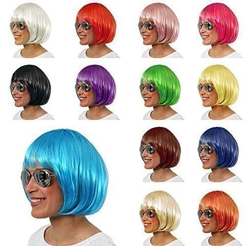Sexy Bob Perücke Wig Cabaret Charleston Perücken für Fasching & Karneval (Cabaret Weiß)