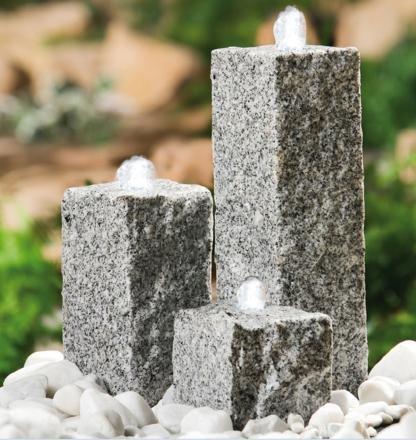 Heissner Garten/Terrassen Brunnen Granit'Neptun', grau