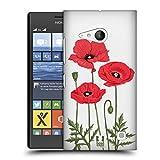 Head Case Designs Rote Mohnblumen Rosen Und Wildblumen Ruckseite Hülle für Nokia Lumia 730/735