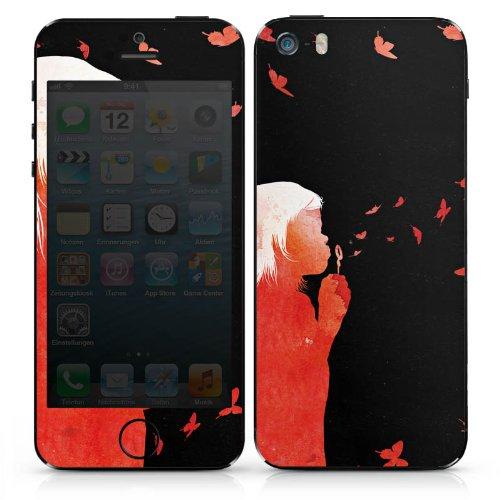 Apple iPhone 4s Case Skin Sticker aus Vinyl-Folie Aufkleber Schmetterlinge Art Mädchen DesignSkins® glänzend