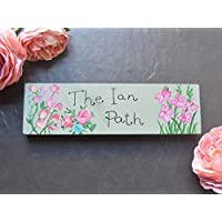 Personalised Wooden Flower Garden Sign | Greenhouse Plaque | Potting Shed | Roses | Sweet Peas | Gladiolas | Allotment