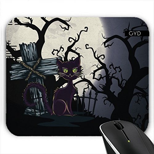Mousepad - Vintage Halloween-Friedhof Katze by Gatterwe (Friedhof Halloween Ideen)