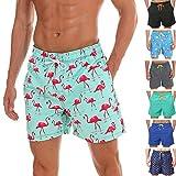 anqier Badeshorts für Männer Badehose für Herren Jungen Schnelltrocknend Schwimmhose Strand Shorts