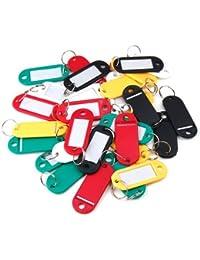 Liroyal Plástico Viaje Equipaje Etiquetas De Equipaje Con Llavero - 30 piezas