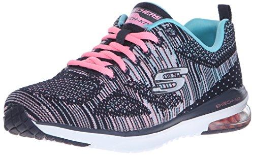 Skechers (SKEES) Skech-Air Infinity-Wlidcard, Zapatillas de Deporte para Mujer, Azul (Nvmt Azul marino/Multicolor), 40 EU