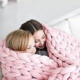 SHASHA Decke Stricken Knitting Throw Blankets Garn Gestrickte Decke Handgestrickte Warme Chunky Knit Decke Merino Weiche Wolle Dickes Garn Sperrigen Sofa Throw,A-200 * 200