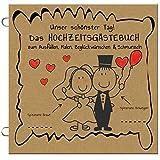 Paul´s Papierfabrik 50x Das lustige Hochzeitsgästebuch zum Ausfüllen, Malen, Beglückwünschen, Hochzeit Gästebuch Alternative mit Fragen, Gastgeschenk, Hochzeitsspiel