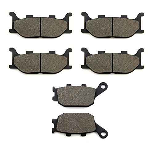 SOMMET Pastiglie freno Anteriori + Posteriore per Yamaha FZ6 Naked FZ6 Fazer (2 Piston Caliper) (04-07) XJ6-SP/N/F/S Diversion 600 (13-15) FZ6-NS Naked (2 Piston Caliper) (05-06) LT199-199-174