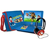 Ematic Ematic Nickelodeons Paw Patrol Theme 7-Inch Portable DVD Player with Headphones and Travel Bag, Blue