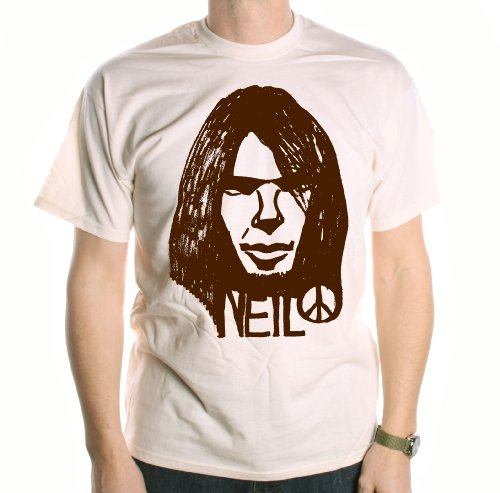 A Tribute To Neil Young T-Shirt - Neil Peace Sketch ungefŠrbt s