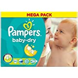 Pampers Baby Dry Taille Maxi 9-20kg Plus (80) - Paquet de 6